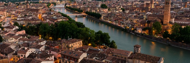panorama di verona giorno sole veneto italia foto panoramica fotografie di verona