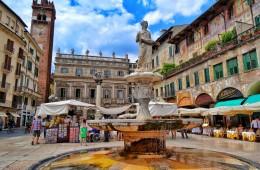 strada fontana centro verona veneto italia foto panoramica fotografie di verona